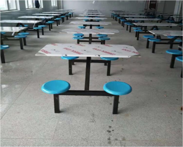 连体餐桌椅、食堂桌椅